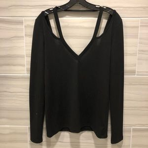 Black Cut-Out Sweater